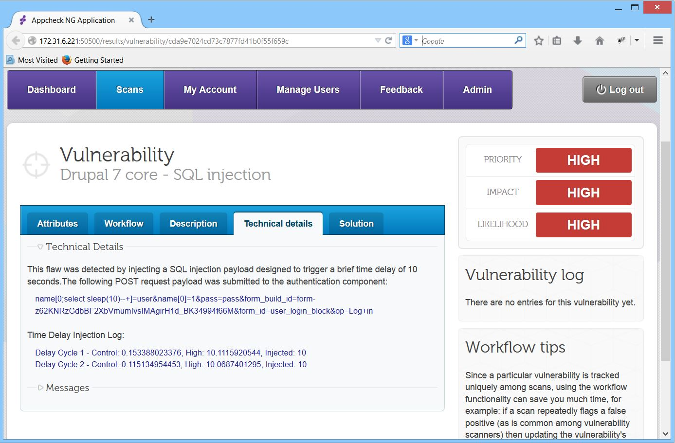 Drupal 7 SQL Injection – Use AppCheck NG to Discover if You